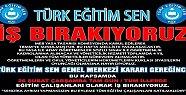 Türk Eğitim Sen İş Bıraktı