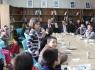 Vali ve Belediye Başkanı öğrencilerle kütüphanede