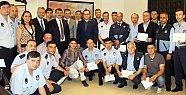 Zabıta ve Güvenlik personeline sertifika