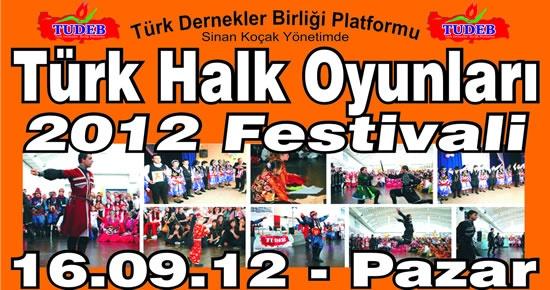 TUDEB, Türk Halk Oyunları Festivali düzenliyor
