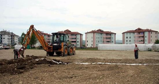 Tuna Mahallesi'nde park çalışmalarına başlandı