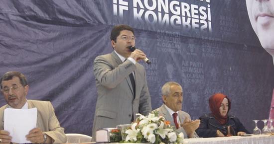 Tunç, 3 adayın yarıştığı Samsun İl Kongresi'nden divan başkanı