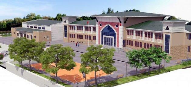 Tunç, Abdipaşa Lise ve Kapalı Spor Salonu inşaatında