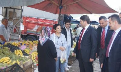 Tunç Amasra'da esnaf ziyaretinde