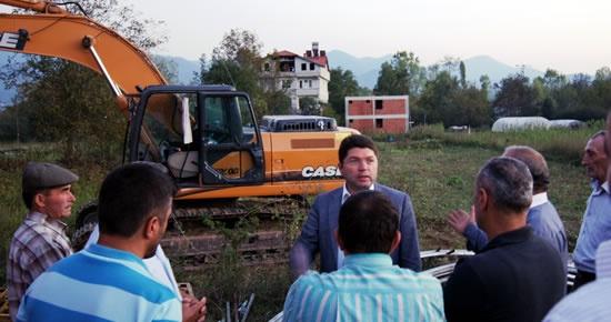 Tunç, inşaatına başlanan OSB arıtma tesisini inceledi