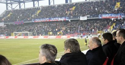 Tunç Karabük - Trabzon maçını tribünden izledi