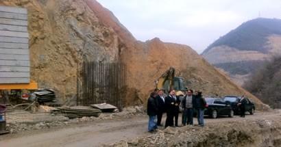 Tunç, Kirazlıköprü barajı İcirlidere viyadüğünde incelemelerde bulundu