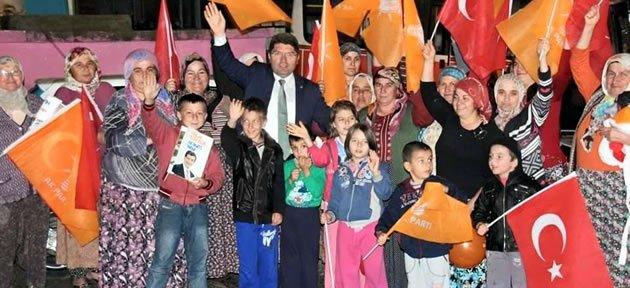 Tunç Köylerde Sevgi Gösterileriyle Karşılandı
