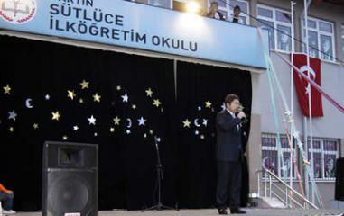Tunç, Sütlüce İlköğretim Okulunun yılsonu etkinliklerine katıldı