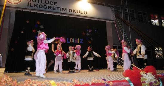Tunç Sütlüce İlköğretim Okulu'nun yıl sonu şenliklerinde