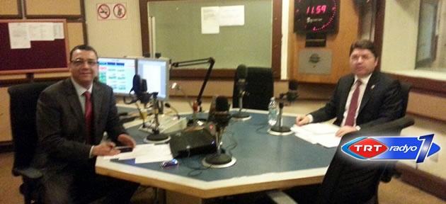 Tunç, TRT Radyo 1'e konuk oldu