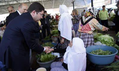 Tunç ve Kalay meşhur Galla pazarını ziyaret etti
