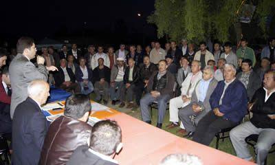 Tunç'a Ellibaş ve Sülek Köylerinde yoğun ilgi