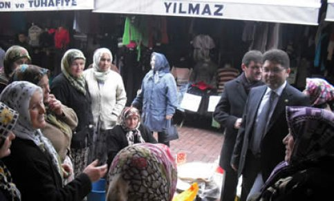 Tunç'tan köy ve esnaf ziyaretleri