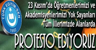 Türk Eğitim-Sen'den Dilekçe eylemi