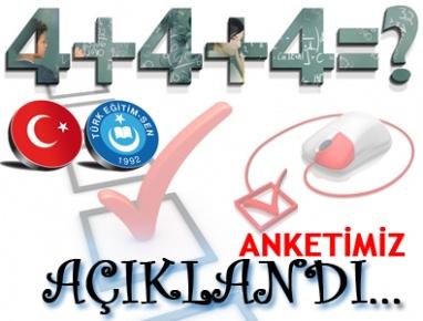 Türk Eğitim-Sen'in 4+4+4 Anketi açıklandı