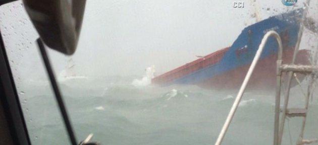 Türk kargo gemisi böyle battı
