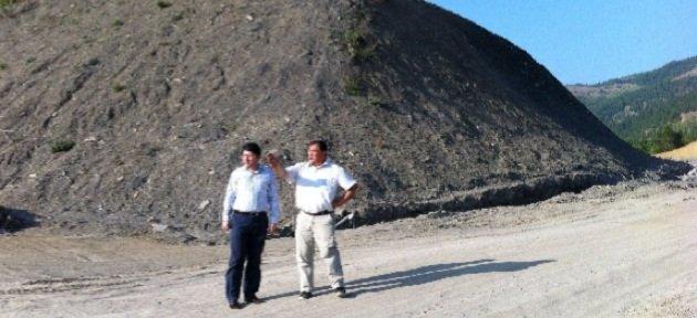 Ulus-Ağalöy yolu çalışmaları devam ediyor