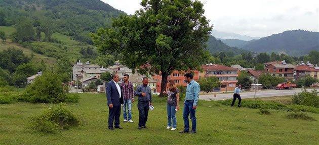 Ulus'ta TOKİ Arsasında Teknik Çalışmalar Başladı