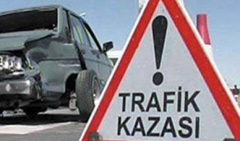Ulus'ta trafik kazası: 2 yaralı