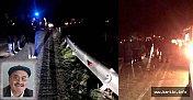 Tomruk yüklü kamyon uçuruma yuvarlandı: 1 ölü