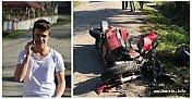 Servise Çarpan Motosikletli Genç Öldü