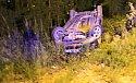 Alkollü sürücü şarampole uçtu: 1 Yaralı