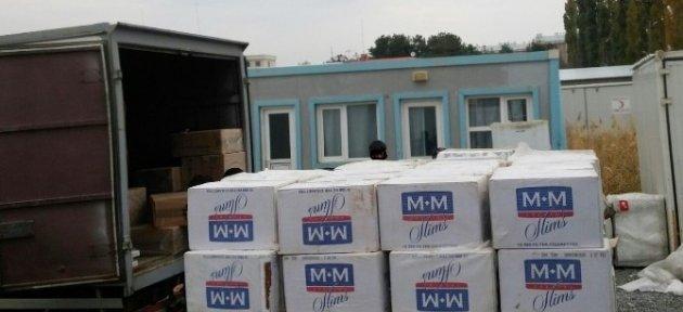 Van'da 124 Bin Paket Kaçak Sigara Ele Geçirildi