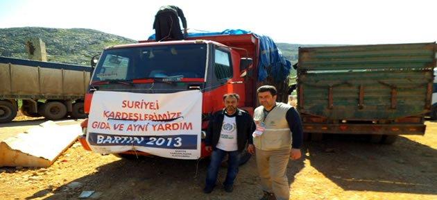 Toplanan Yardımlar Suriye'ye Ulaştı