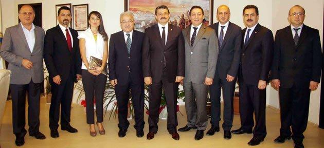 Yeni TSO yönetiminde Başkan'a ziyaret