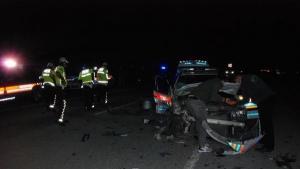Bartın'da Jandarma trafik aracı ile cip çarpıştı: 4 yaralı