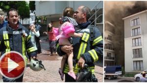 Bartın'da 7 Katlı Apartmanda Çıkan Yangında Panik Anları