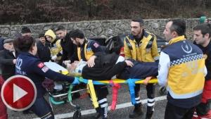 Hastane dönüşünde kaza - 4 yaralı