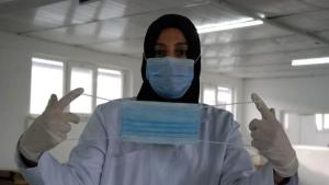 Bartın'da Günde 300 bin maske üretiyorlar