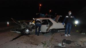 Bartın'da beton direğe çarpan otomobilde 1 kişi öldü