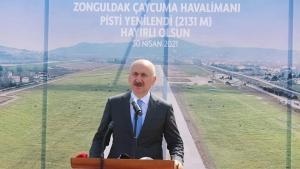 Pisti uzatılan ve genişletilen havaalanı açıldı