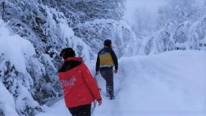 Bartın'da Kar Paletli Ambulans Vatandaşların Hizmetinde