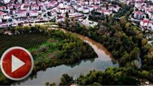 Bartın Irmağı'ndaki Görsel Şölen Drone'la Görüntülendi