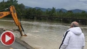 Bartın'da yağmur, köy yollarına ulaşımı aksattı
