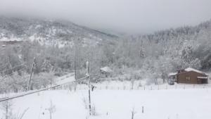 27 Mart 2021 Bartın'da Yarım Metre Kar