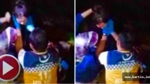 Amasra Mendirekte koşarken düşüp yaralandı