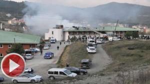 Bartın'da otel yangını: 2 yaralı