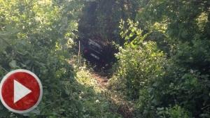 Bartın'da Otomobil şarampole devrildi