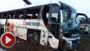 Kuzey Marmara Otoyolunda Bartın Otobüsü Devrildi