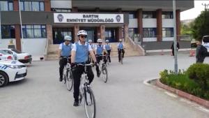 Bisikletli Polis Timleri Martılar Göreve Başladı