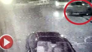 Polisten kaçan kadın sürücü aracıyla çay bahçesinin duvarına çarptı