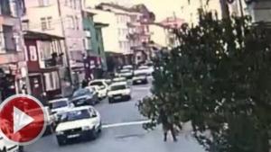 Bartın'da kaza anı kamerada