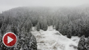 Bartın'da kar güzelliği havadan görüntülendi