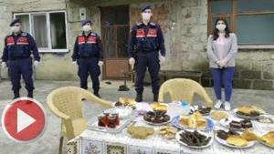 Bartın'da Köylülerden Jandarmaya Sürpriz
