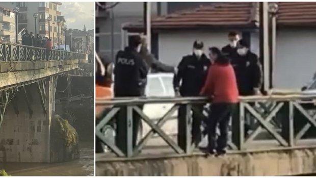 Bartın'da Irmağa Atlamak İsteyen Şahıs Son Anda Kurtarıldı